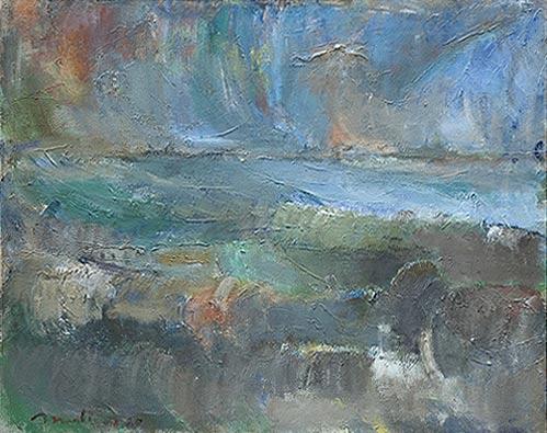 Le jusant, 1980, 80x100
